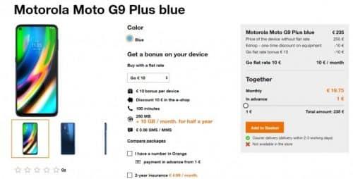 características del Moto G9 Plus