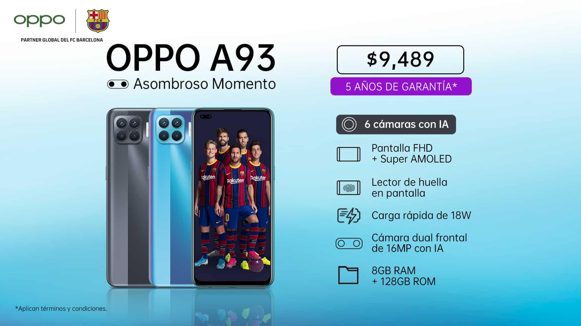 Oppo A93 en México