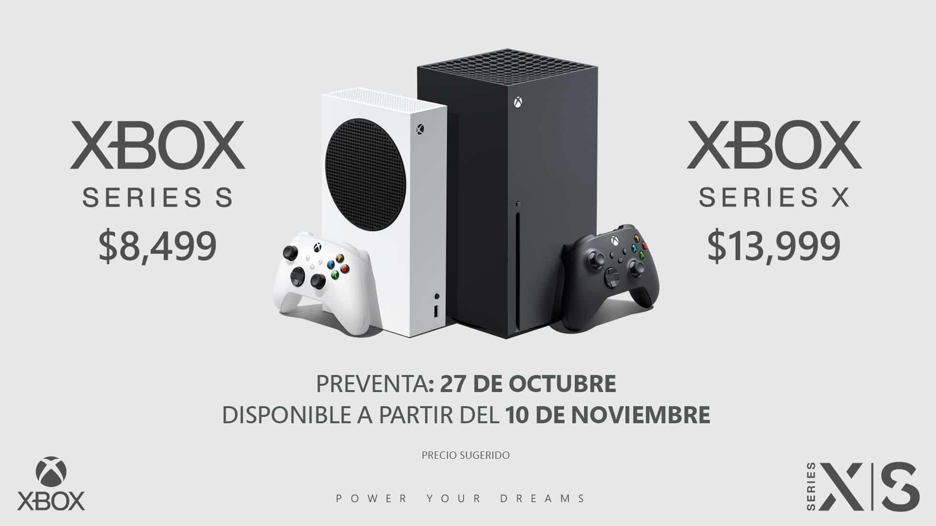 preventa del Xbox Series X y Xbox Series S en México.