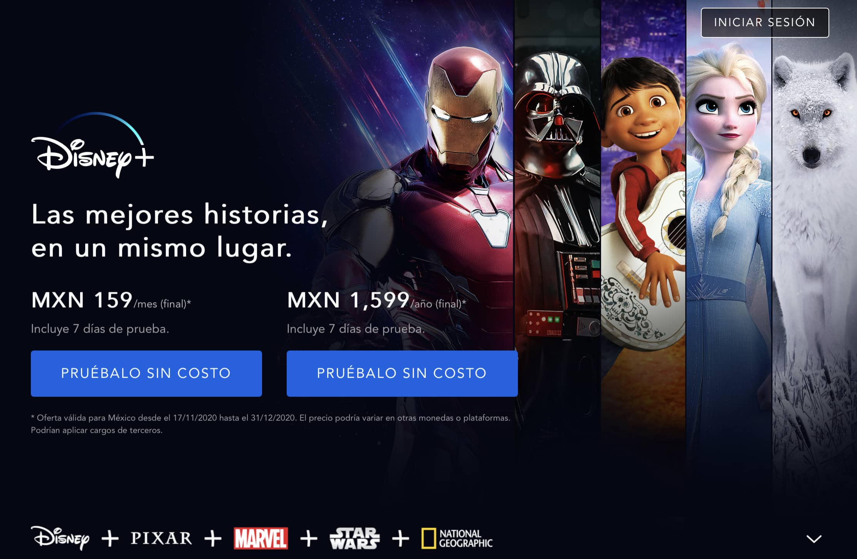 Precio de Disney Plus en México