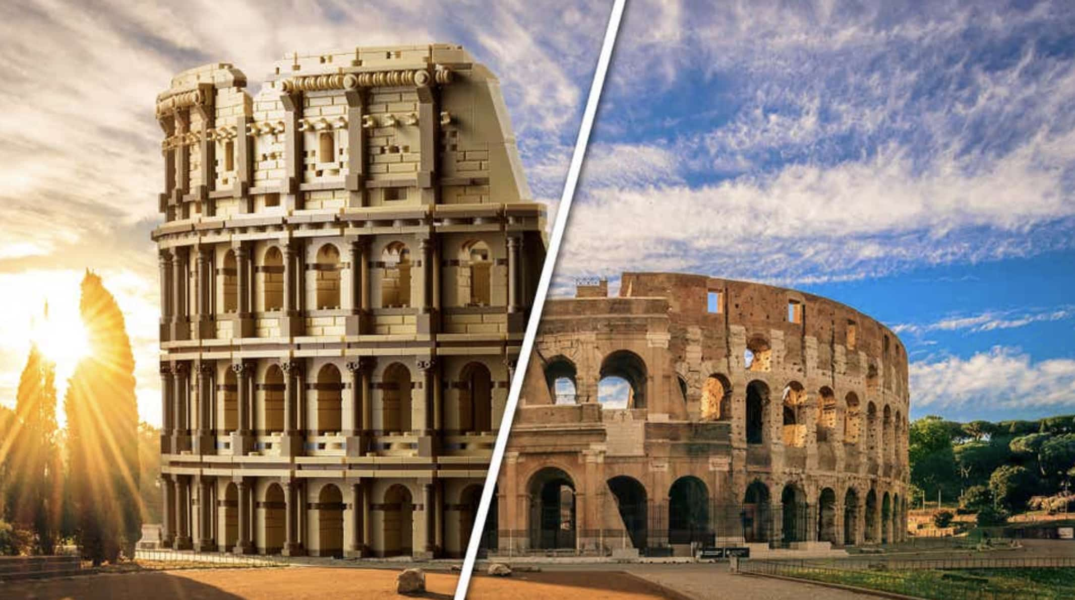 Set del Coliseo Romano de Lego