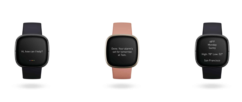 Google Assistant en Fitbit Sense y Fitbit Versa 3