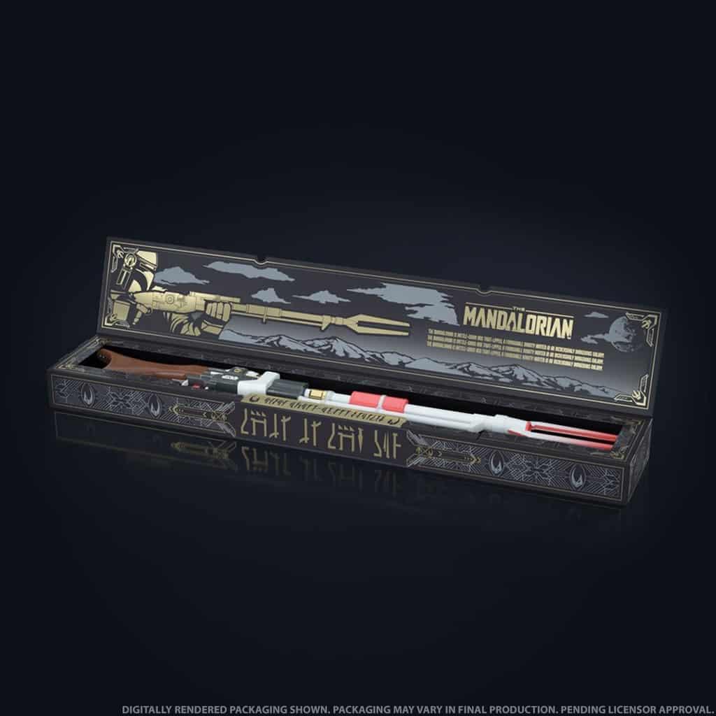 rifle de juguete de The Mandalorian