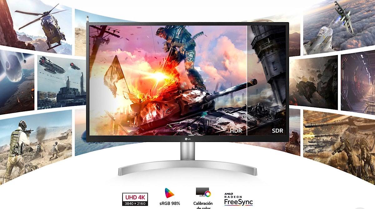 monitor 4K LG 27UL500-W