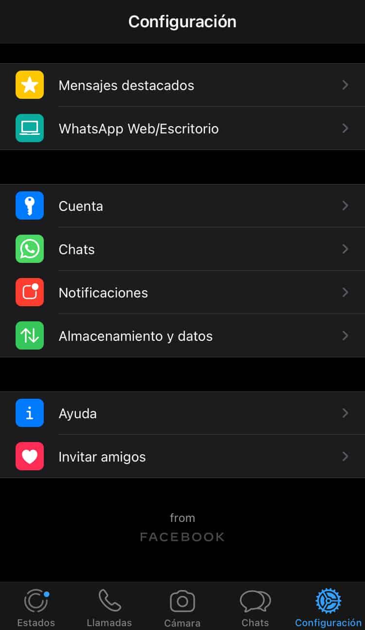 WhatsApp configuración