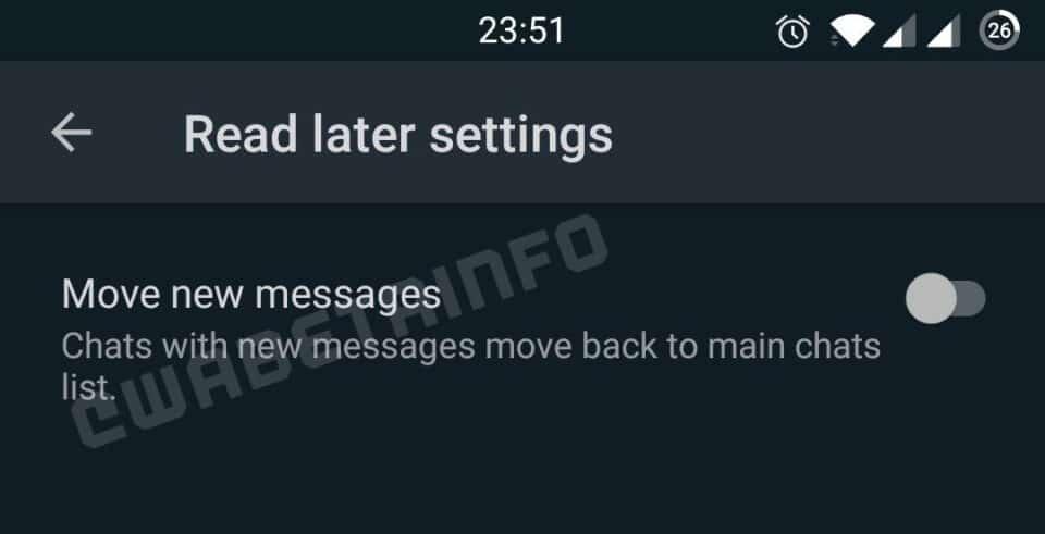 Leer más tarde en WhatsApp Read later WhatsApp