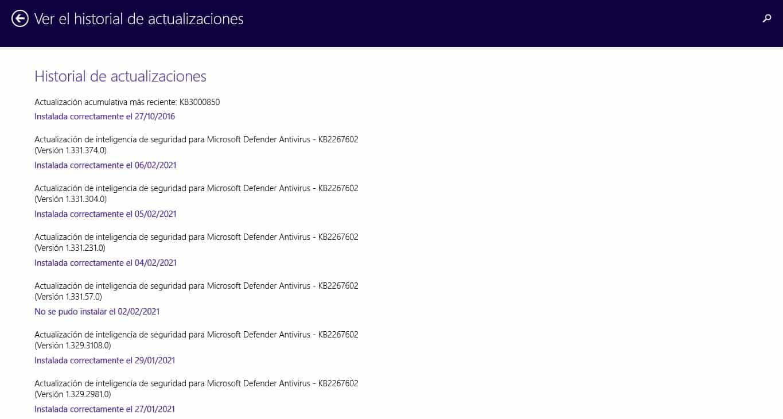 Cómo ver las actualizaciones de Windows 10