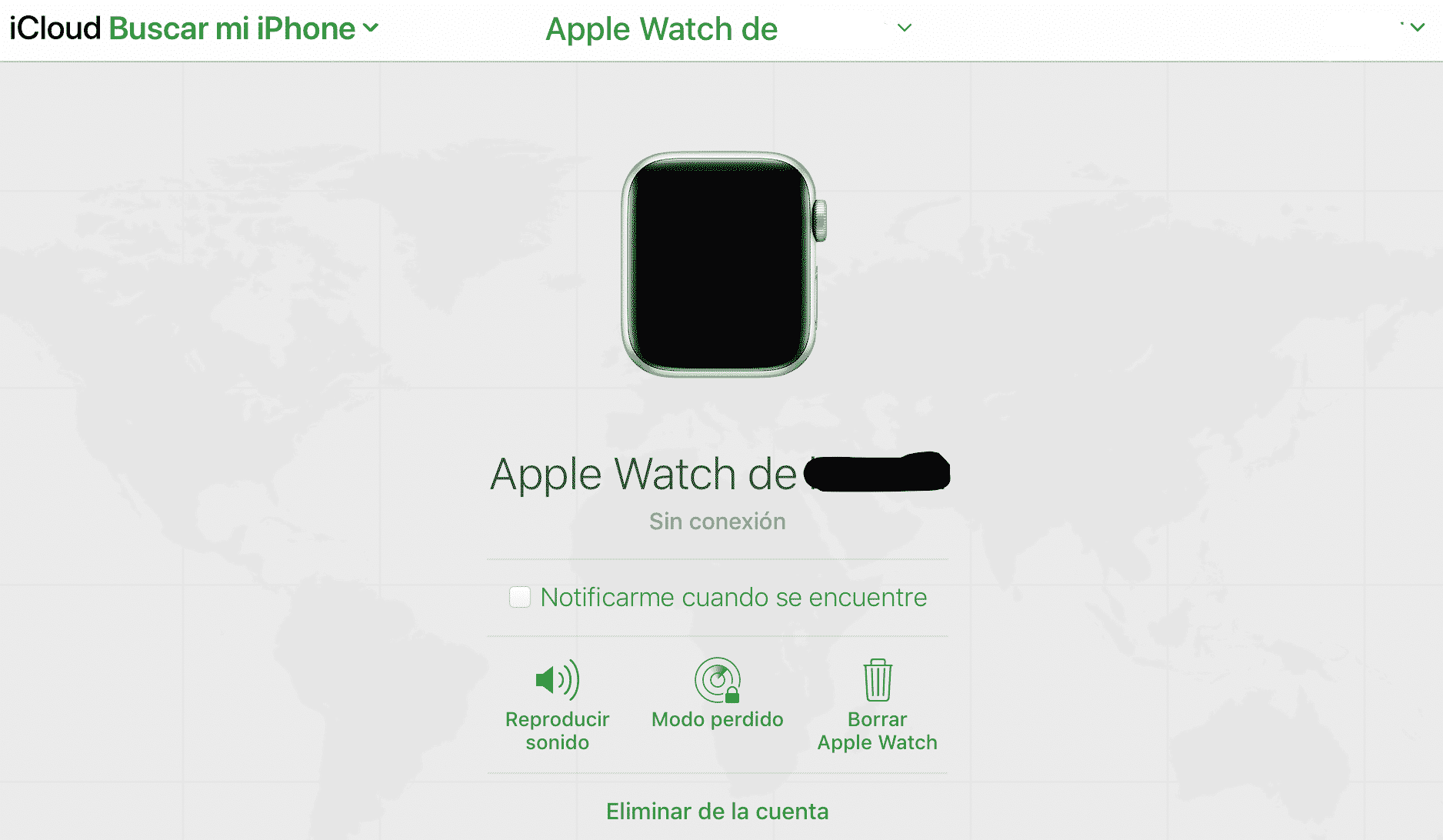 cómo encontrar un Apple Watch perdido