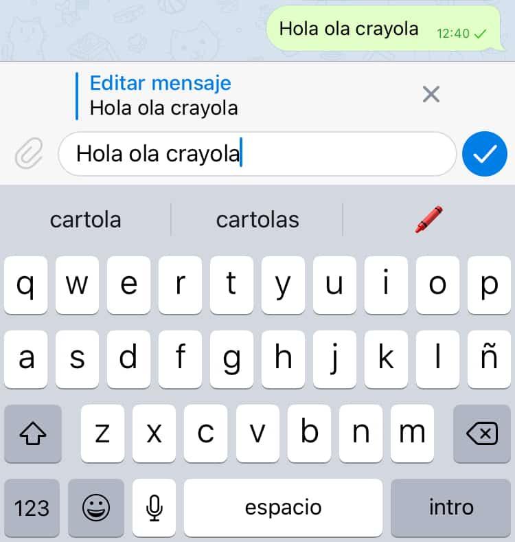 Cómo editar mensajes en Telegram