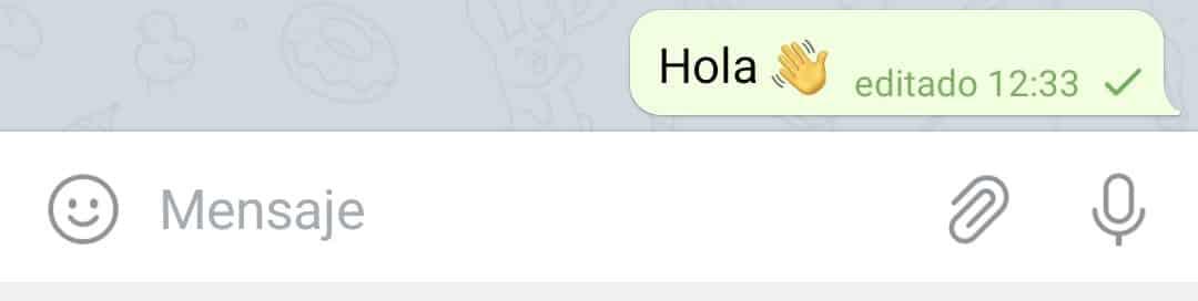 Cómo editar mensajes en Telegram Android