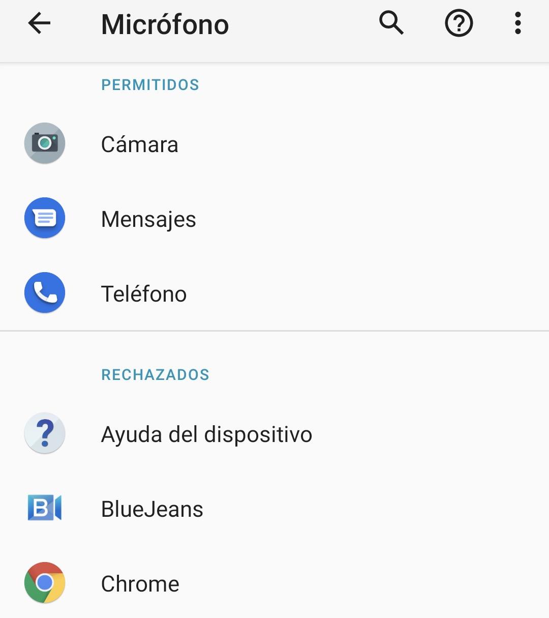 Cómo saber que aplicaciones tienen acceso al micrófono y la cámara en Android