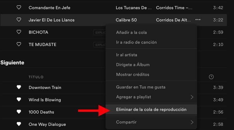 Cómo eliminar la cola de reproducción en Spotify