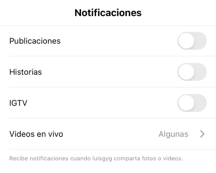 Cómo activar las notificaciones de Instagram
