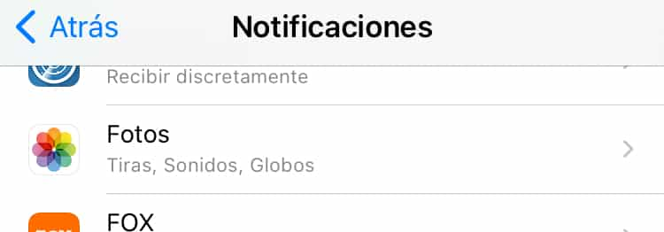 Cómo desactivar notificaciones de Recuerdos en Fotos de iPhone.