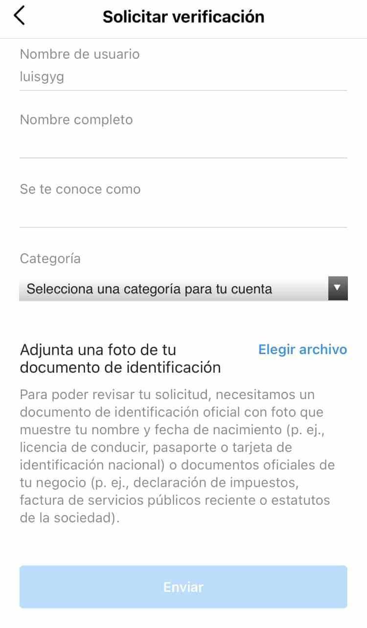 Cómo verificar mi cuenta de Instagram