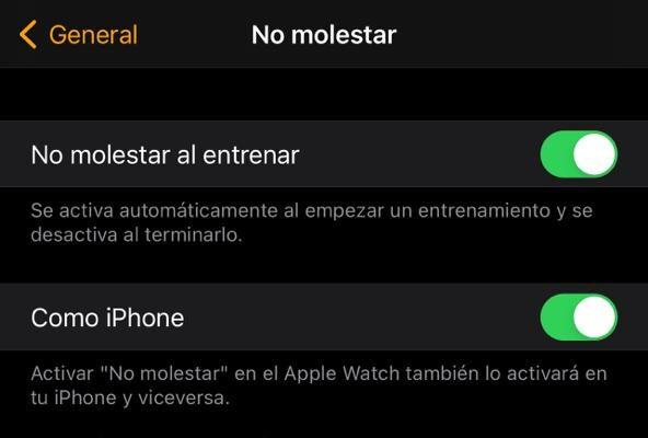 activar no molestar en el apple watch